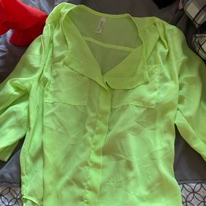 Lovely Day Lime Green Blouse